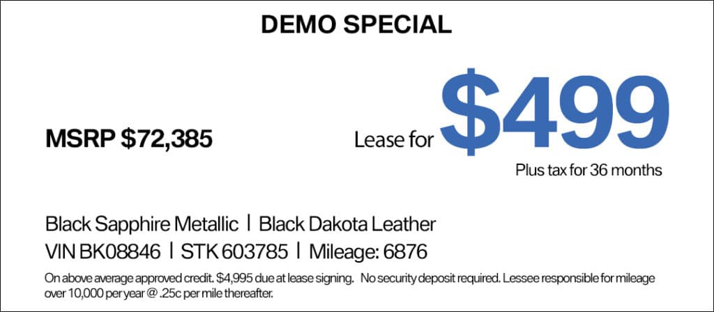 BMW 6 Series Lease Special