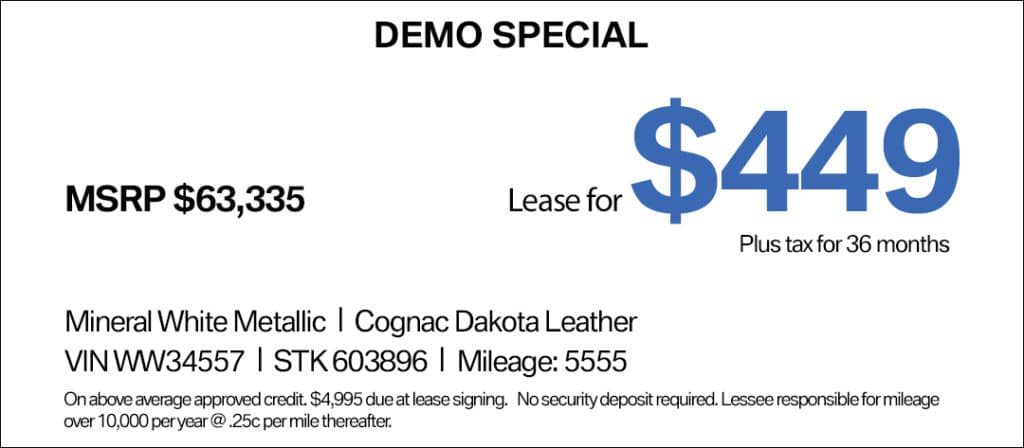 BMW 5 Series Lease Special