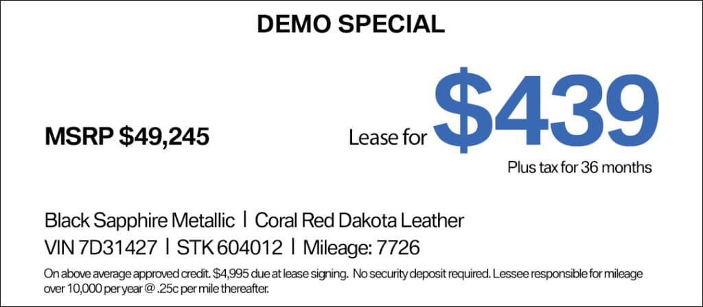 BMW 230i Convertible Lease Special