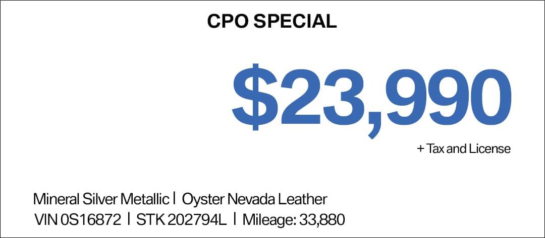 BMW X3 CPO Special