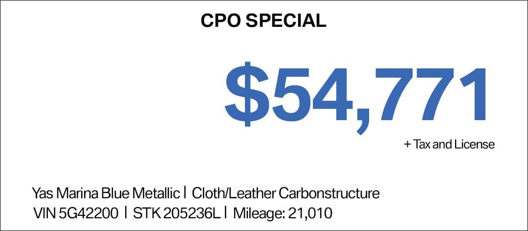 BMW M3 CPO Special