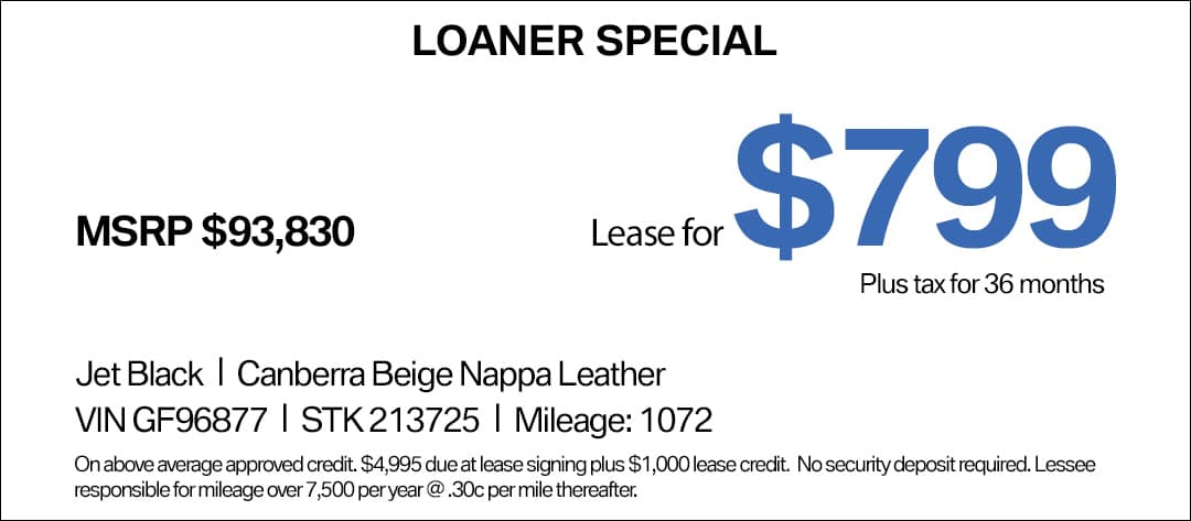 BMW 7 Series Lease Special