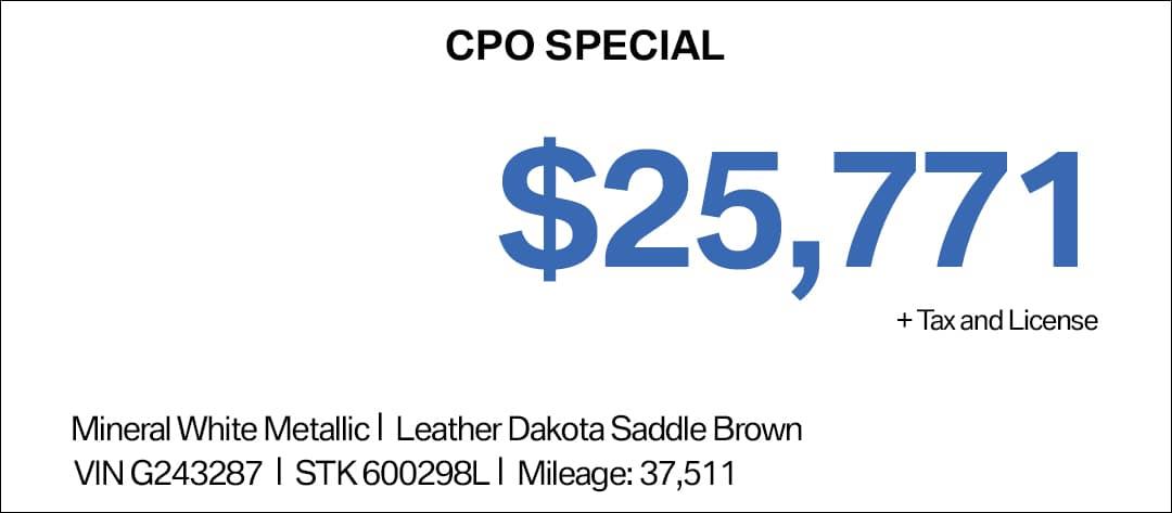 BMW 435i Gran Coupe CPO Special