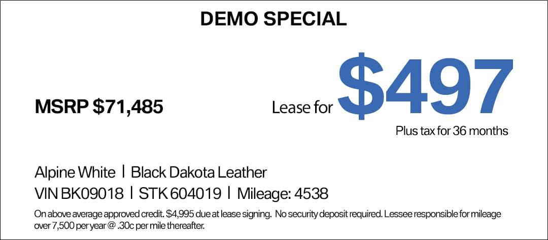 BMW 640i GT Lease Special