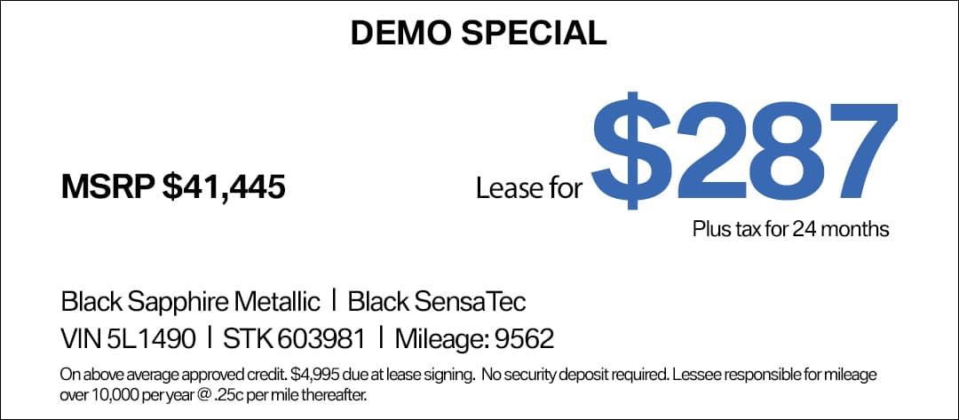 BMW X1 Lease Special