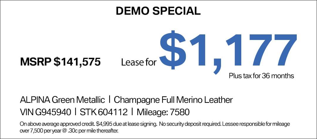BMW ALPINA B6 Lease Special