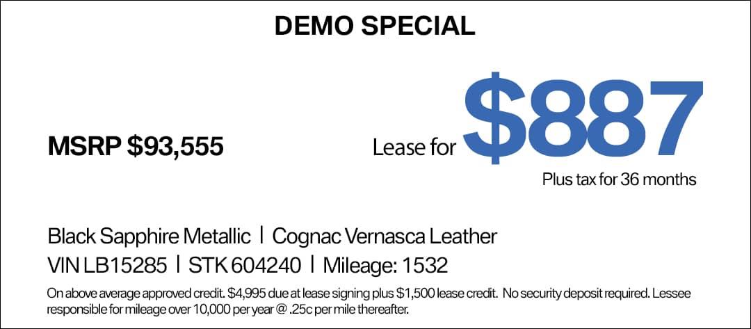 BMW X5 Lease Special