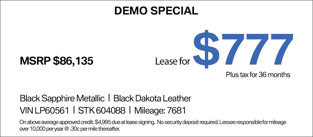 BMW X6 Lease Special