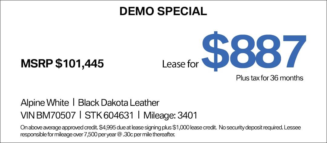 BMW 745e Lease Special