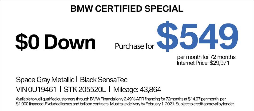 BMW X5 CPO Special