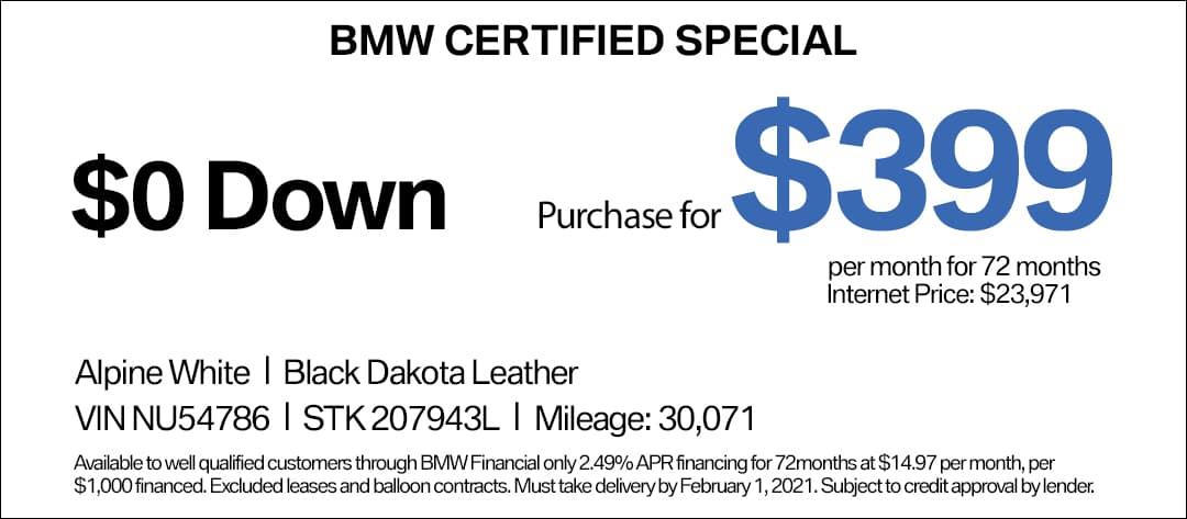 BMW 330i CPO Special