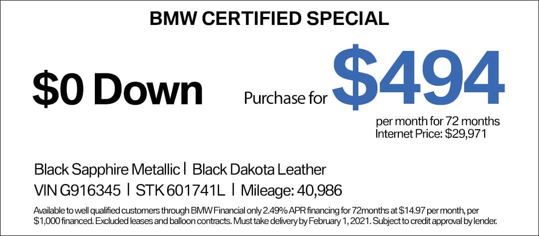 BMW 540i CPO Special