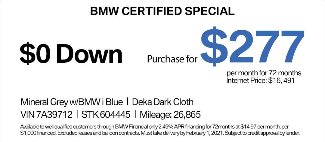 BMW i3 CPO Special