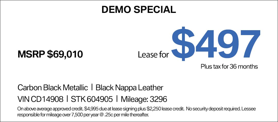BMW 540i Lease Special