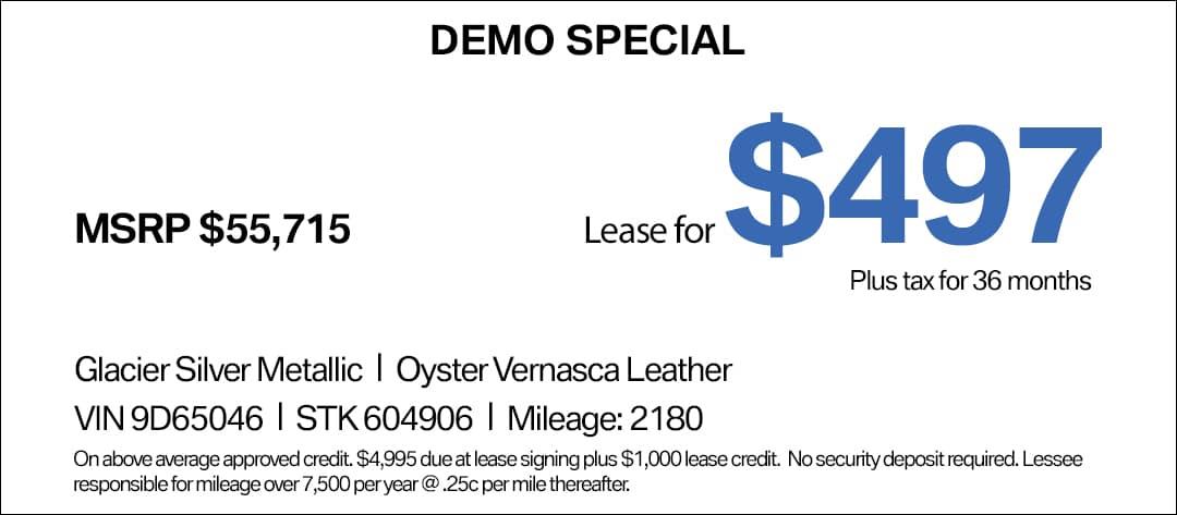 BMW X3 Lease Special