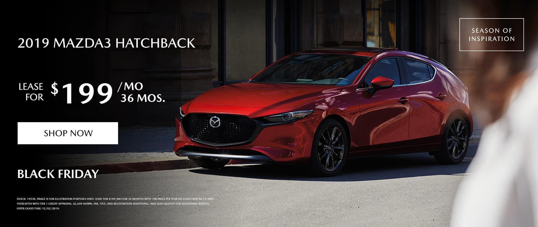 Mazda 3 hatchback special offer
