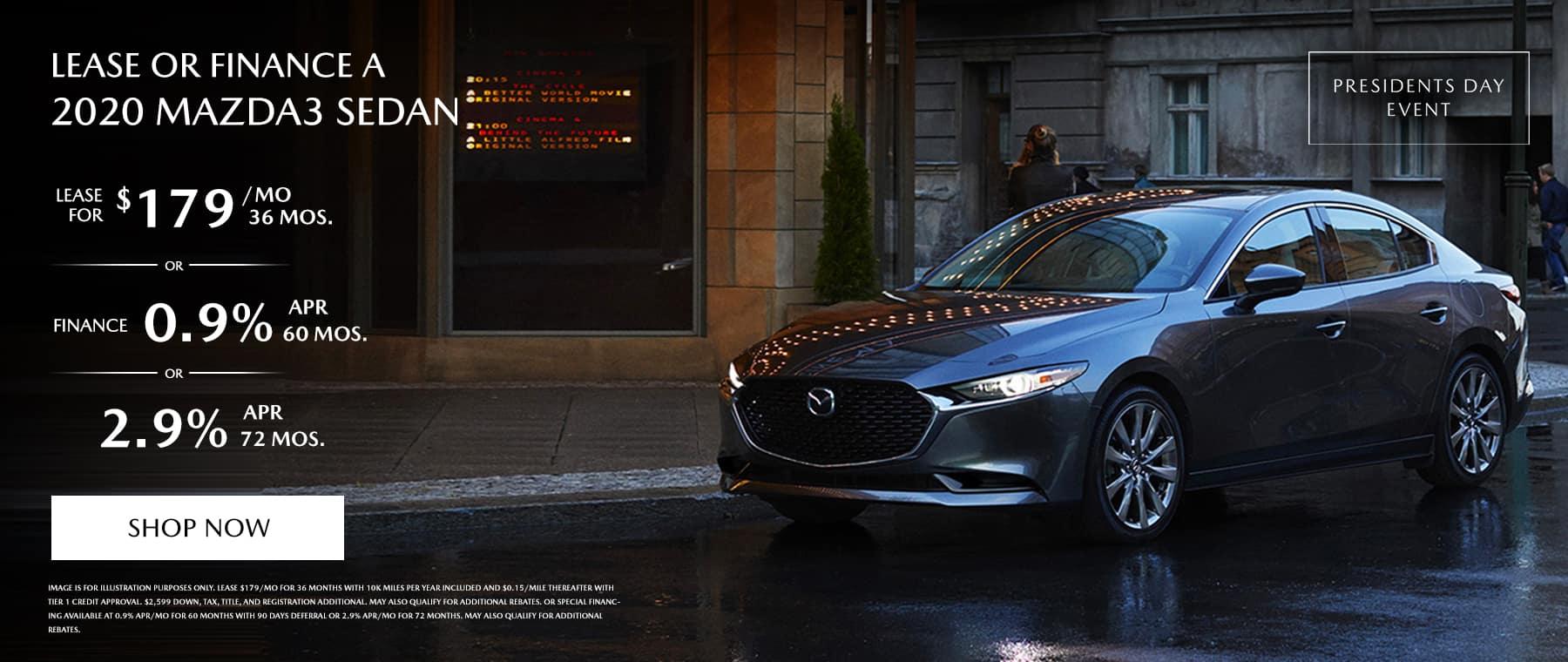 2020 Mazda3 Sedan Lease FInance