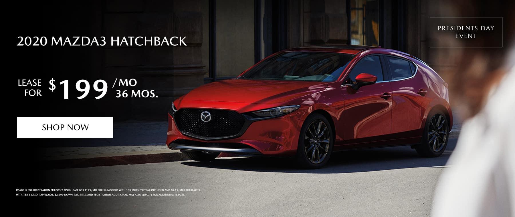 2020 Mazda3 Hatchback Lease