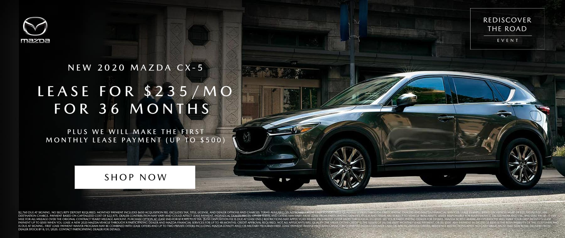 Mazda CX5 Lease August