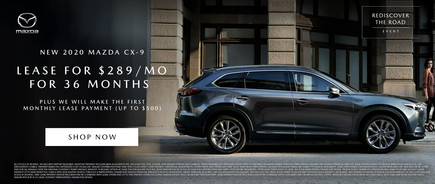 Mazda CX9 Lease August