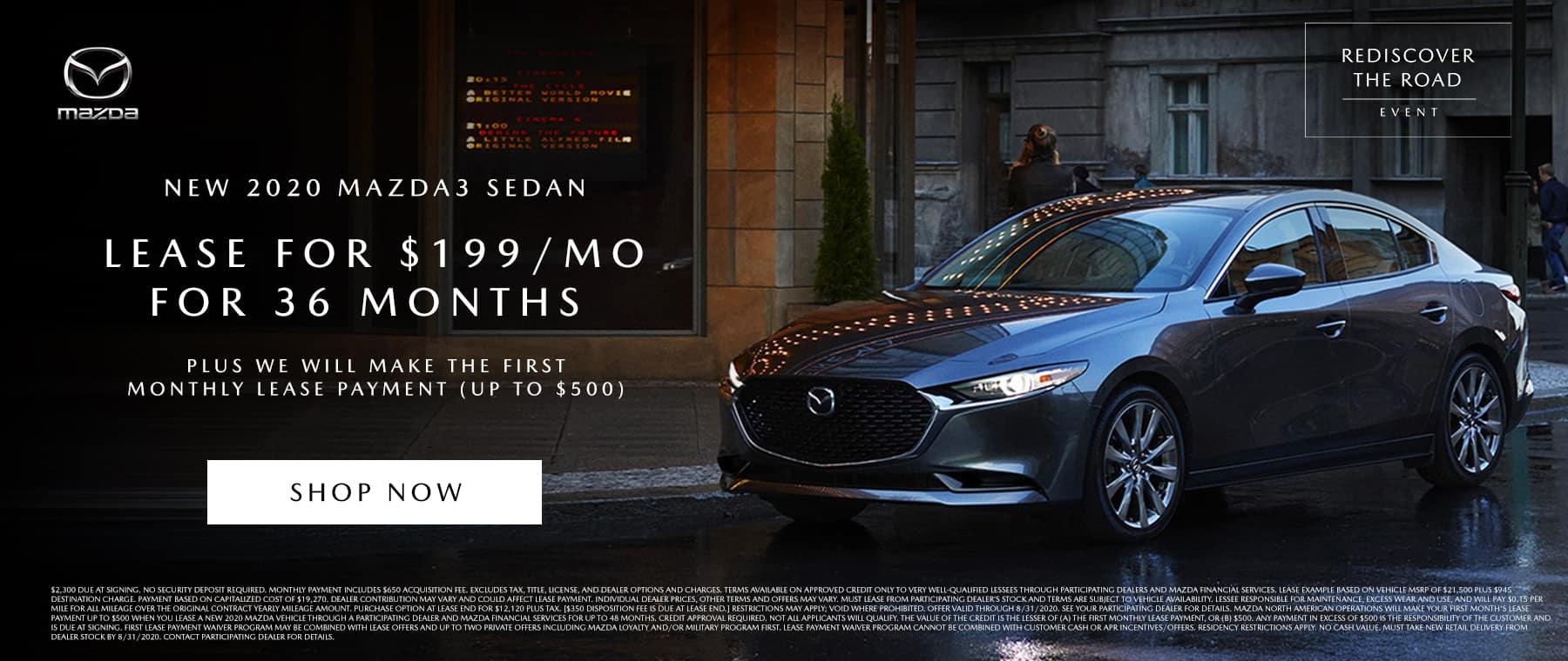 Mazda3 Sedan Lease August