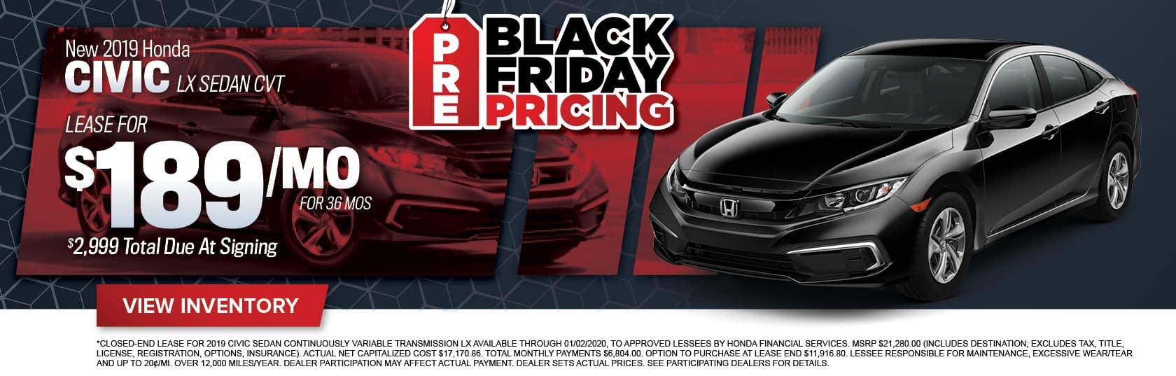New Honda Civic Sedan for Sale in Midlothian, VA