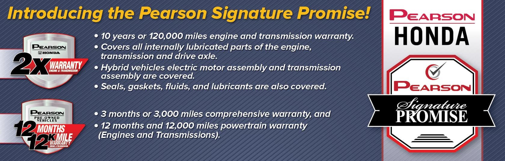 The Pearson Signature Promise