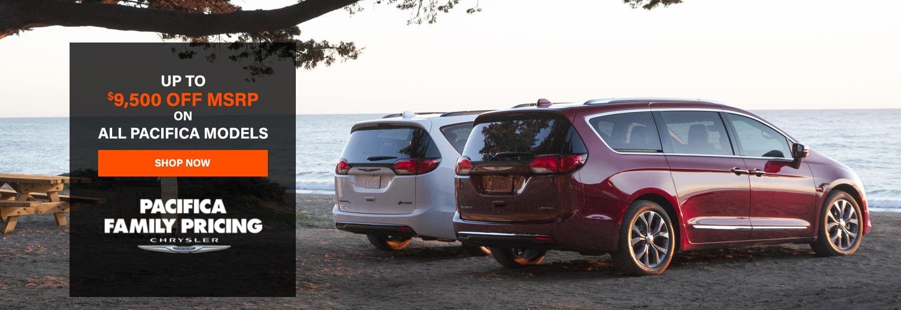 All Chrysler Pacifica Models - Up to $9,500 OFF MSRP!