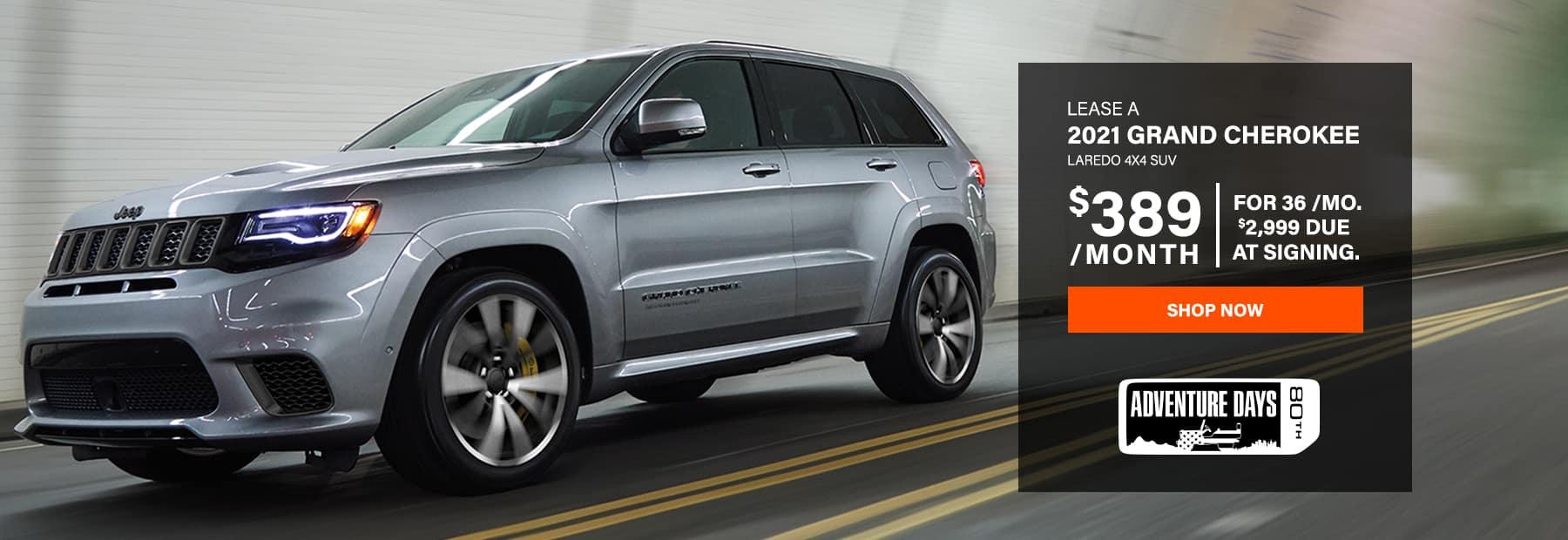 Lease a 2021 Jeep Grand Cherokee Laredo 4x4 SUV