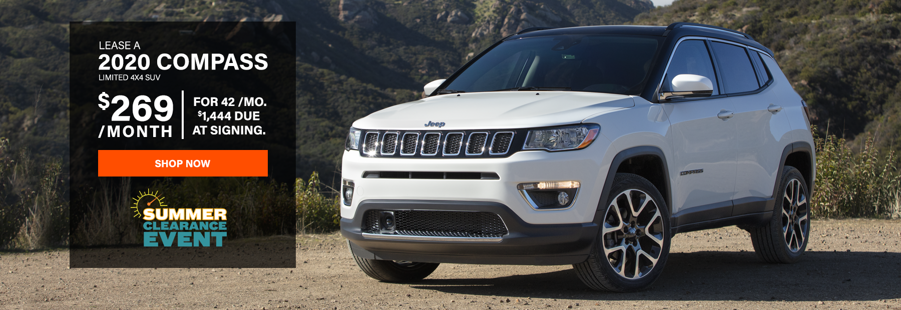 Lease a 2020 Jeep Compass Limited 4x4 SUV