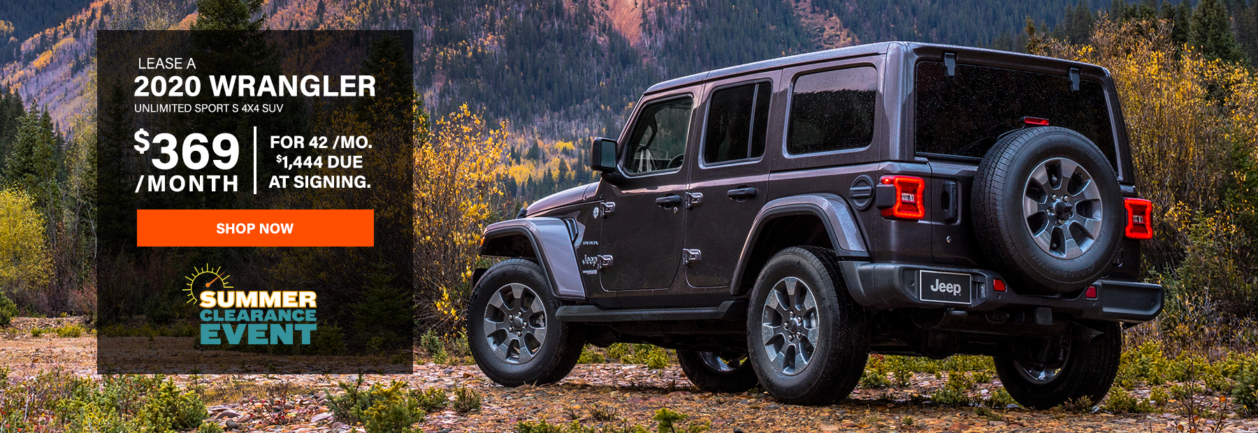 Lease a 2020 Jeep Wrangler Unlimited Sport S 4x4 SUV