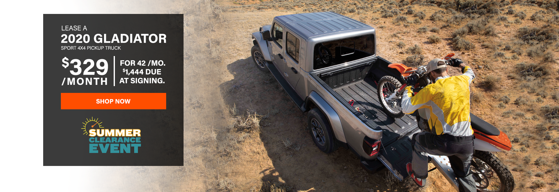 Lease a 2020 Jeep Gladiator