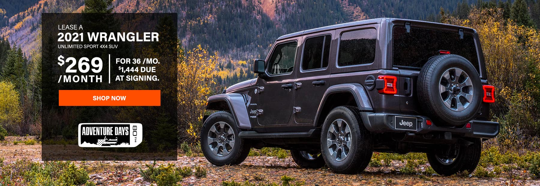 Lease a 2021 Jeep Wrangler Unlimited Sport 4x4 SUV