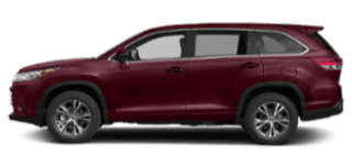 2019 toyota highlander side view