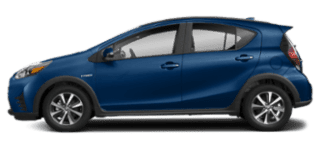 2019 toyota prius-c side view