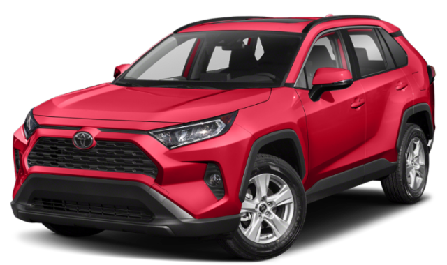 2019 Red Toyota RAV4