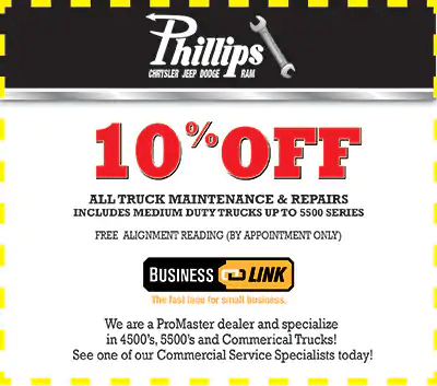 10 off all truck repairs