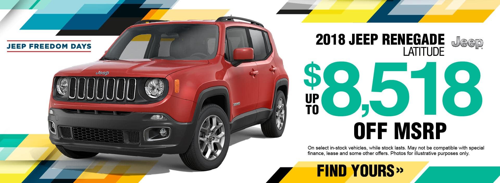 2018 Jeep Renegade Savings