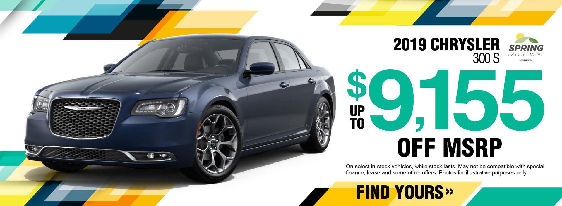 2019 Chrysler 300 Savings