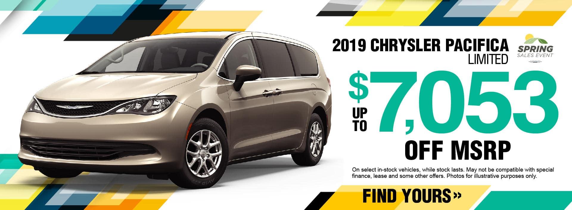 2019 Chrysler Pacifica Savings