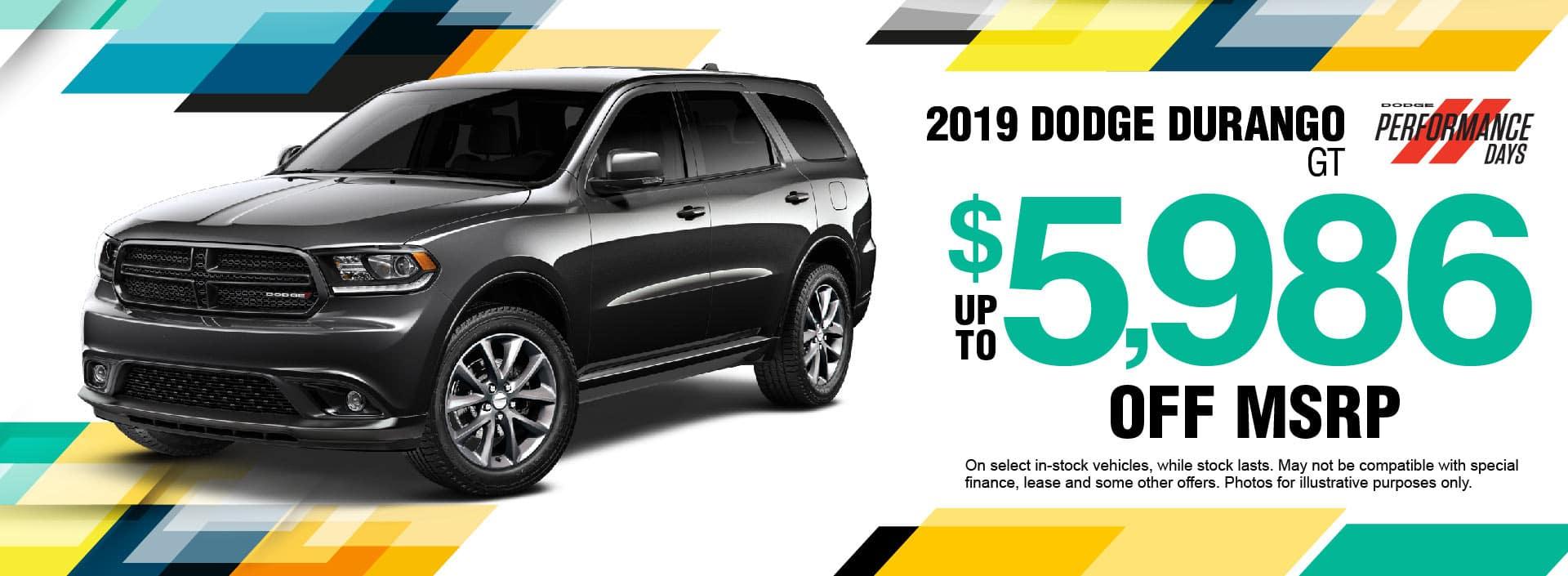 2019 Dodge Durango Savings
