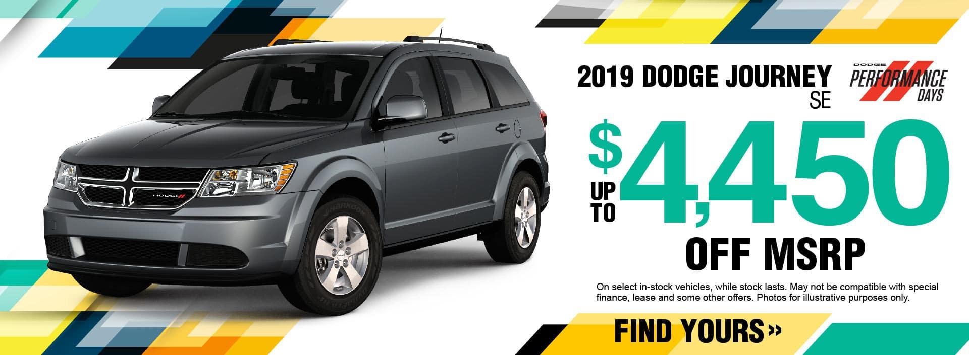 2019 Dodge Journey Savings