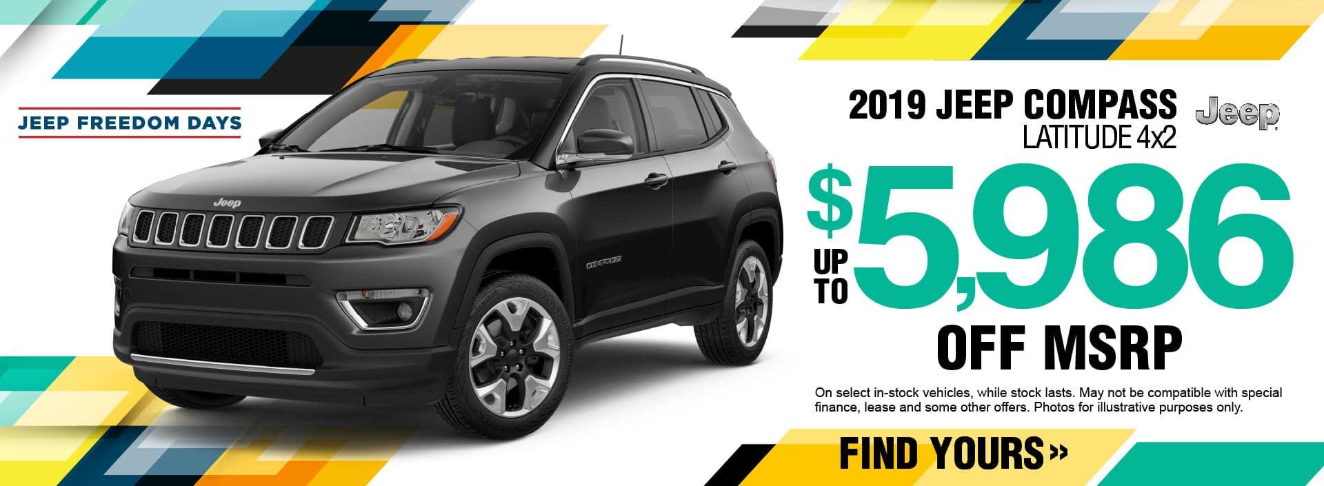 2019 Jeep Compass Savings