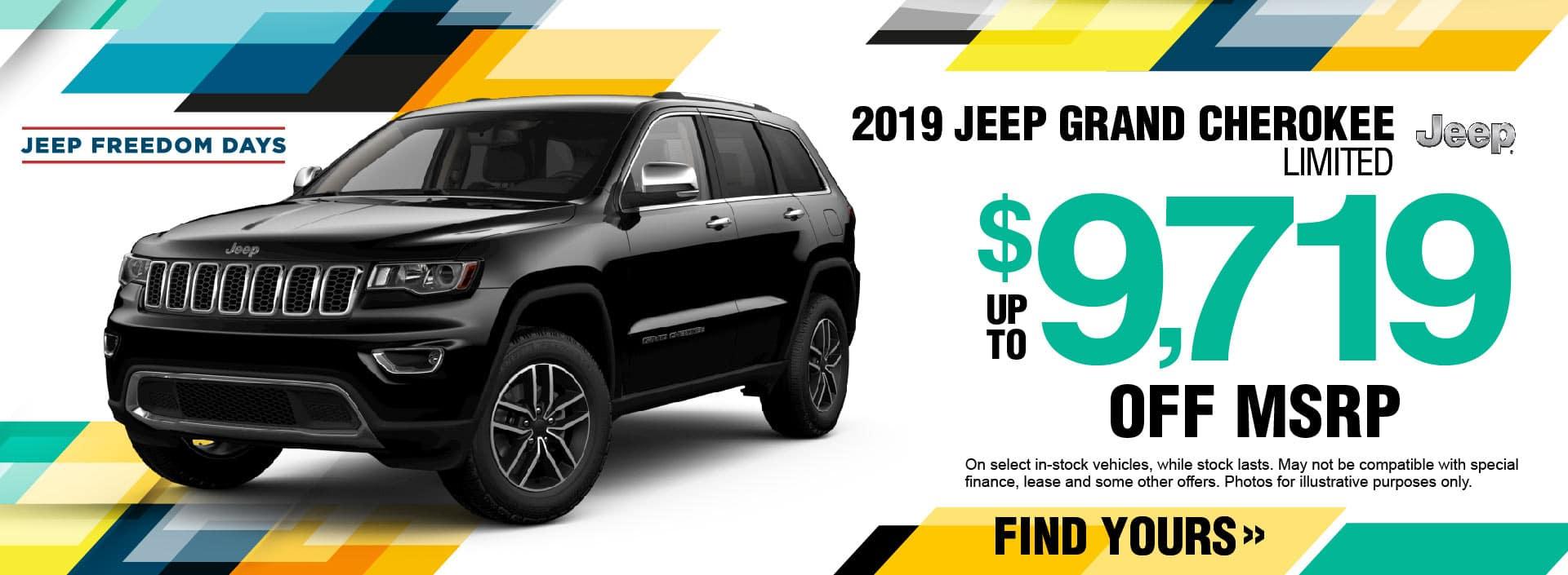 2019 Jeep Grand Cherokee Savings