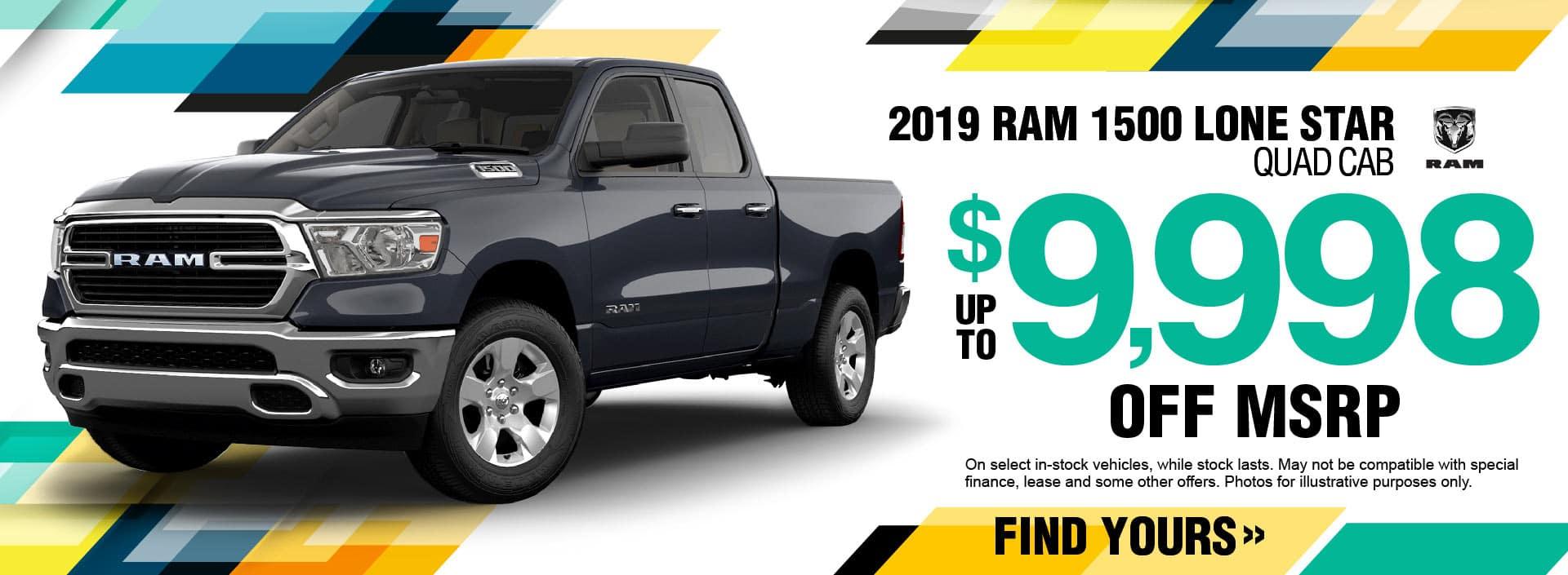 2019 RAM 1500 Quad Savings