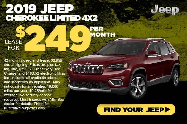 2019 Jeep Cherokee Lease