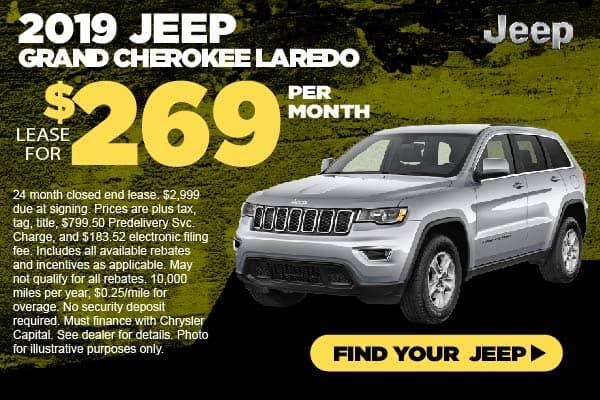 2019 Jeep Grand Cherokee Lease