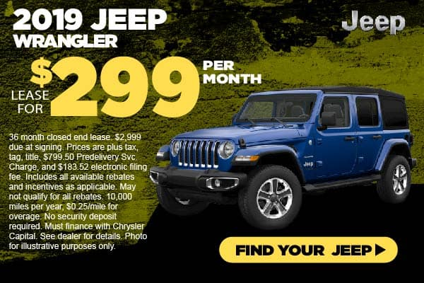 2019 Jeep Wrangler Lease