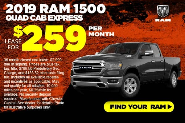 2019 RAM 1500 Quad Cab Lease