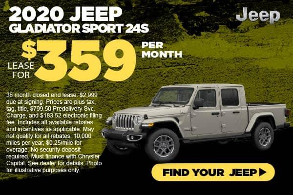 2020 Jeep Gladiator Lease